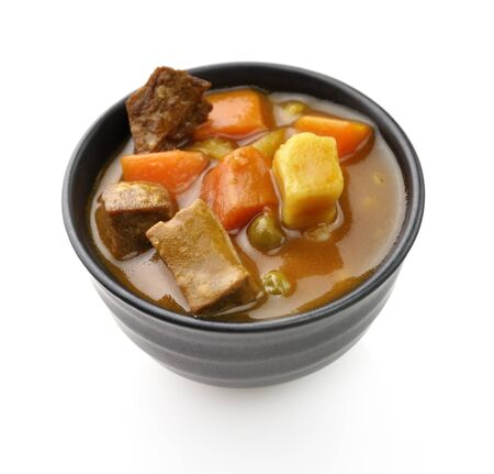 Beef Soup With Vegetables, Close Up Shot photo