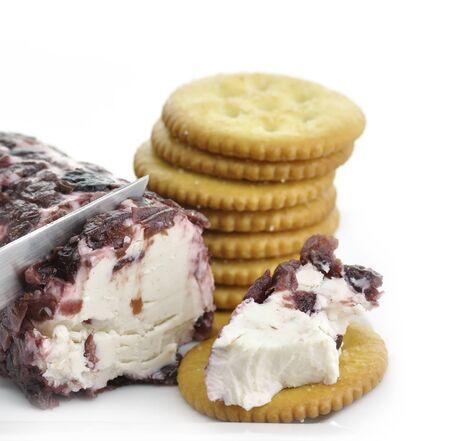 queso de cabra: Los ar�ndanos y queso de cabra y canela Galletas
