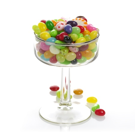 jelly beans: Assortment Of Jelly Beans In A Glass