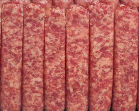 A Package Of Breakfast Sausages , Close Up