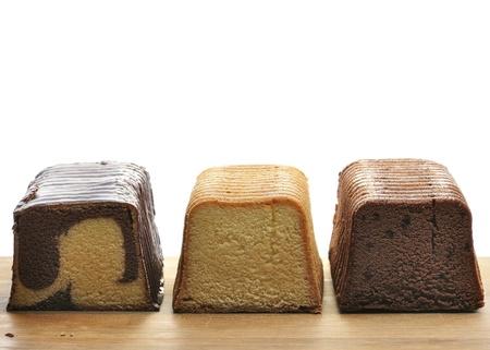 Assortiment Van Pound Cakes Op Een Snijplank