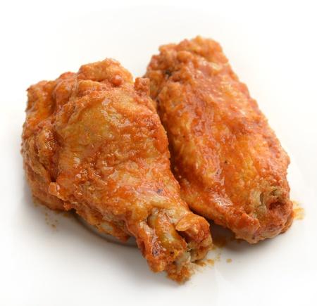 alitas de pollo: Alas de pollo al estilo búfalo, Close Up Foto de archivo