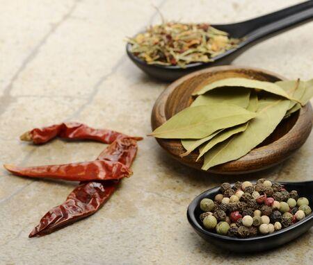 Variety Of Spices ,Close Up 版權商用圖片