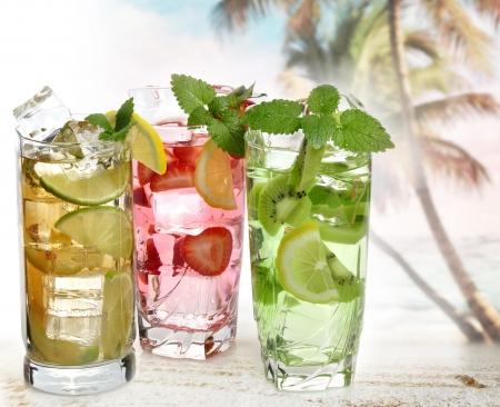 bebidas frias: Las bebidas fr�as de verano, Close Up Foto de archivo