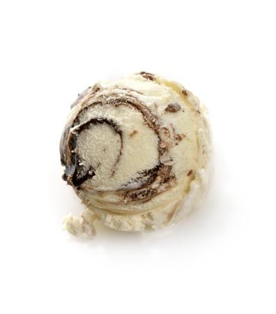バニラアイス クリームとチョコレート、ブラウニー 写真素材