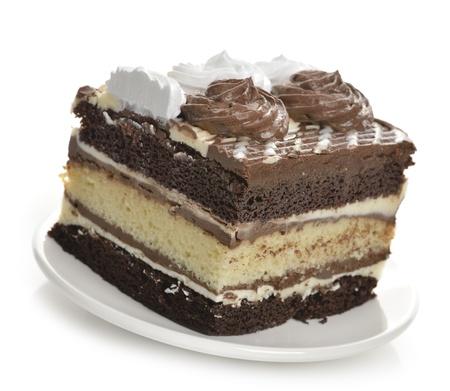 to cake layer: Layer Cake al cioccolato, chiudere, su