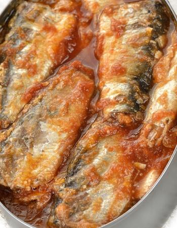 Tinned Sardines In Tomato Sauce ,Close Up photo