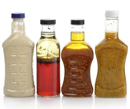 salad dressing: Assortment Of Salad Dressing Bottles