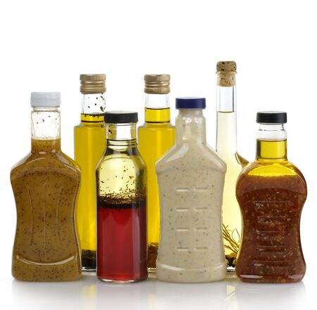 food dressing: Assortment Of Salad Dressing Bottles