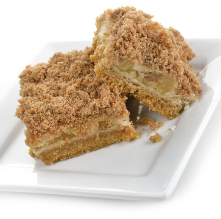 Apple Pie Bars On A White Plate Stock Photo