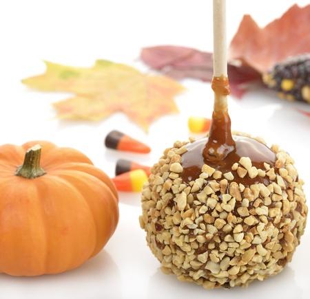 Caramel Apple And Pumpkin ,Close Up