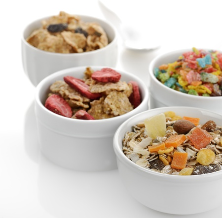 Breakfast Collection   Muesli And Flakes With Fruits And Nuts