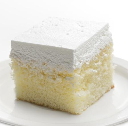 바닐라 케이크의 조각, 닫습니다 스톡 콘텐츠