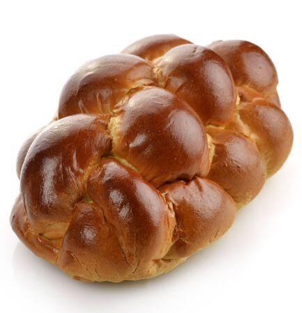 Vers Brood Op Witte Achtergrond Stockfoto