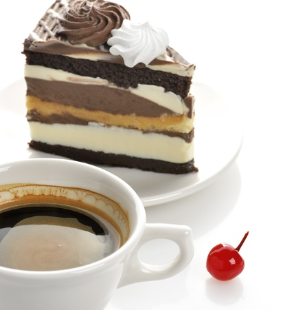 Cup Of Coffee And Cake photo