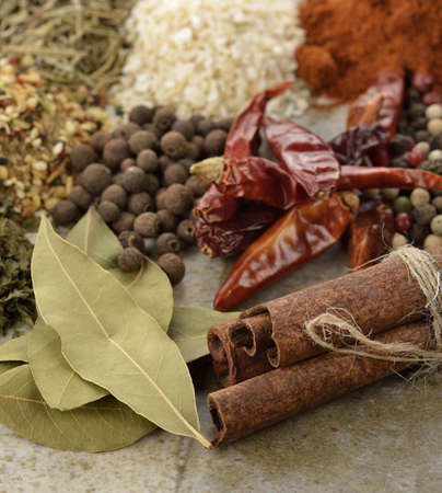 Spices And Herbs ,Close Up Stok Fotoğraf
