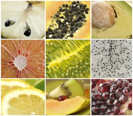 exotic fruits: Collection Of Exotic Fruits,Close Up Stock Photo