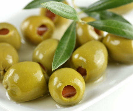 olive green: Green Olives Stuffed With Paprika