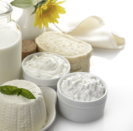Dairy Products - Milk,Cheese,Sour Cream And Bread photo