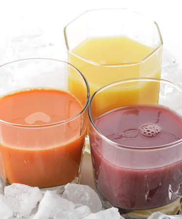 coctail: Fresh Fruit And Vegetable Juice With Ice Cubes