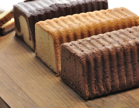 Assortment Of Pound Cakes On A Cutting Board  Stock fotó