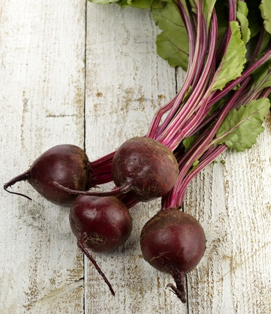 Beetroots On Wooden Background ,Top View