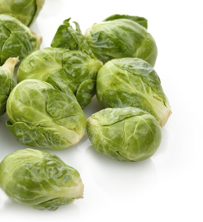 Brussels Sprouts On White Background 免版税图像