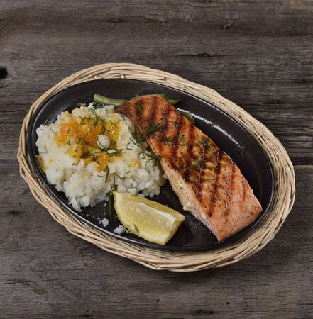 Grilled  Salmon Fillet With Potatoes