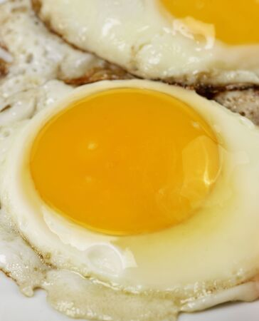 sunnyside: Fried Eggs,Close Up Shot Stock Photo