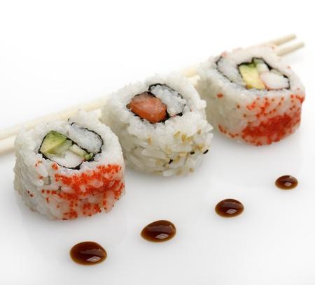 Assortiment Van Sushi Rolls, Close Up