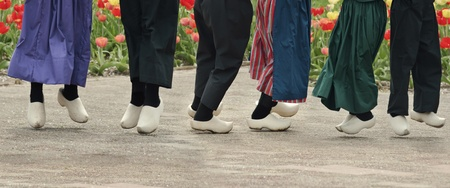 dutch: Dutch Dancers With Wooden Shoes On