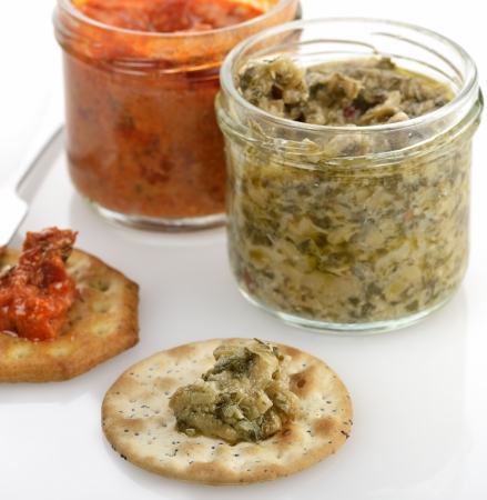spreads: Artichoke And Red Pepper Spreads With Crackers