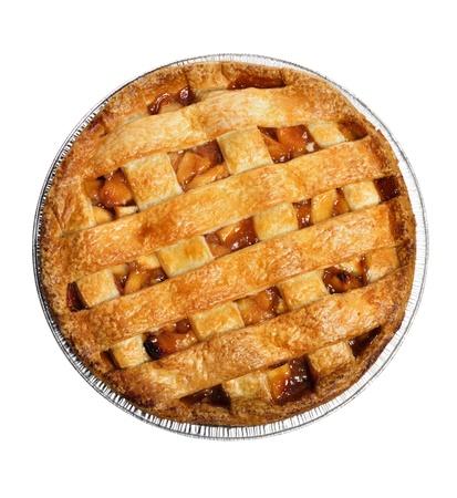 애플 파이는 흰색, 상위보기에 고립 스톡 콘텐츠