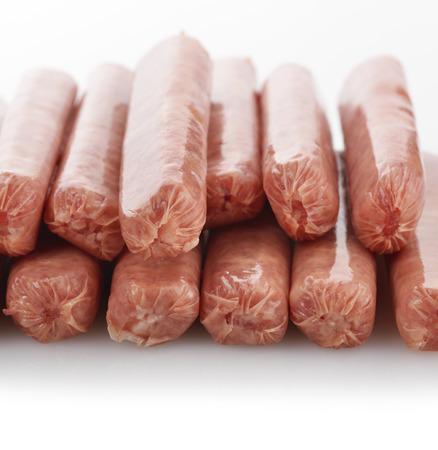 Raw Breakfast Sausage Links Stock Photo