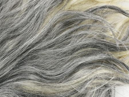 Graues Haar Textur für den Hintergrund