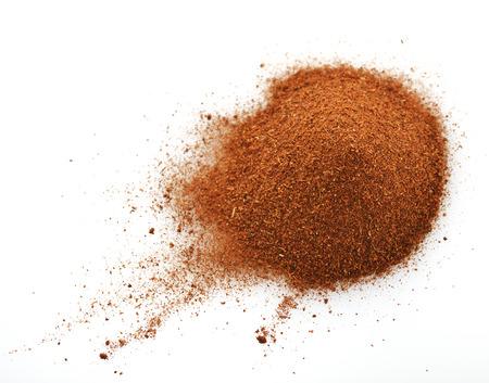 Chili Pepper Powder On White Backround Imagens
