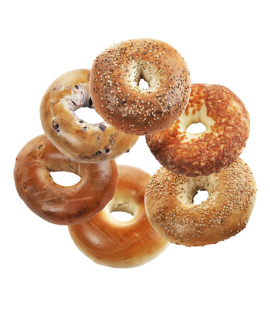 Bagels Isolated On White Background  photo