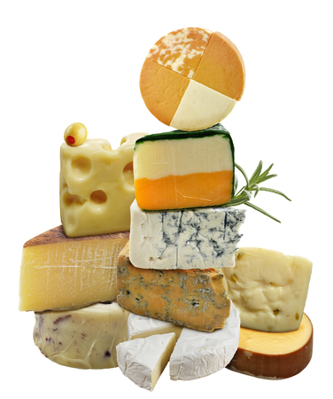 Cheese Collection Isolated On White