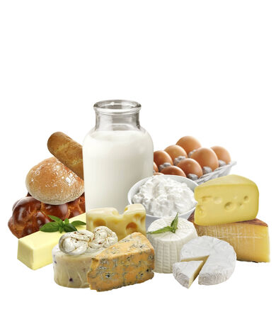 Dairy Products  Isolated On White Background