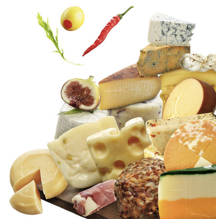 Cheese Assortment Isolated On White