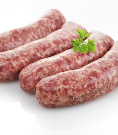 Fresh Raw Sausages,Close Up
