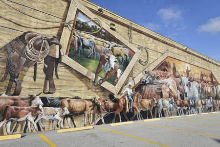 murals: Lake Placid ,Florida-December 30: Lake Placid Is Town of Murals . Lake Placid has more than 40 murals painted on buildings throughout the town. Editorial