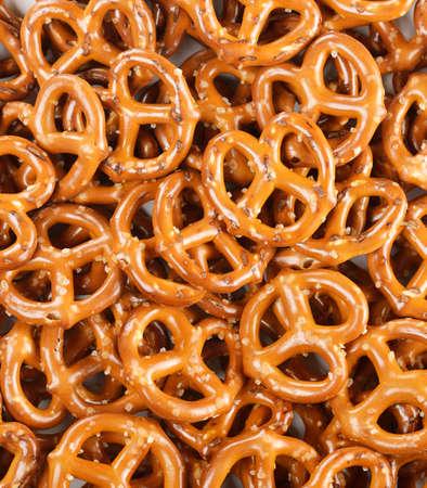 pretzels: Closeup Of A Pile Of Pretzels For Background Stock Photo