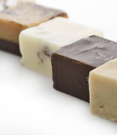 Chocolate Fudge Squares,Close Up