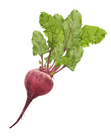 Beetroot With Leaves Isolated On White Background