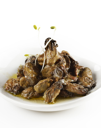 Smoked Oysters In A Plate Stock fotó - 27467104