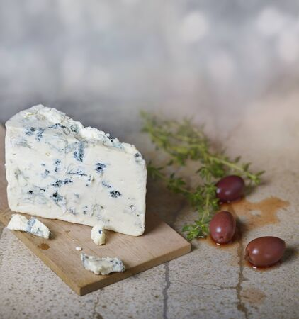 Blue Cheese and Kalamata Olives Stock Photo