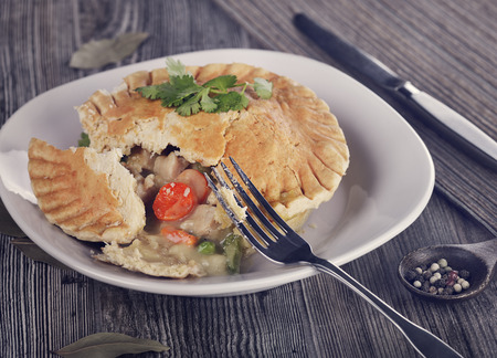 baked chicken: Chicken Pot Pie In A Plate