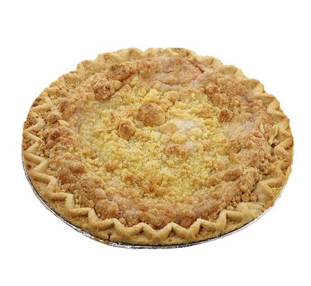 crumb: Apple Crumb Pie Isolated on White Background Stock Photo