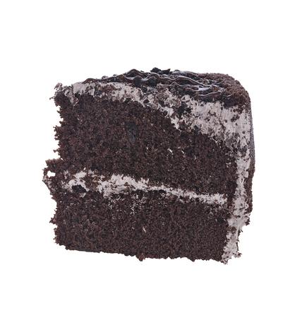 trozo de pastel: Rebanada de pastel de chocolate FUDGE Foto de archivo